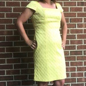 Adrianna Papell Yellow Cap Sleeve Dress